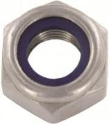 DIN985-8.8 veržlės su fiksuojančiu plastikiniu žiedu, cinkuotos